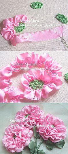 Susana Mustafa: Cintas de bordado - flor rosa