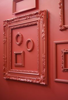 red on red. #red frames on #red walls