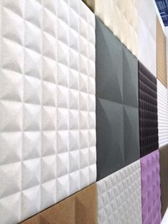 BuzziTile is not just an acoustical wall tile. The tiles' architectonic form combines beautifully to create unique and exciting wall features. Self Adhesive Wall Tiles, 3d Wall Tiles, Acustic Panels, Kids Church Rooms, Acoustic Design, 3d Wall Decor, 3d Wall Panels, Acoustic Wall Panels, Sound Proofing