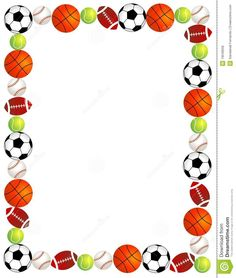 55 awesome sports themed border clip art mostafa pinterest rh pinterest com  football border clip art free