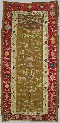 folk kilims is said to have been woven in Oltenia and is dated 1788. Oltenia is in southwest Romania and is a part of Wallachia.