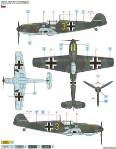 Bf 109E-3 JG 51 Color Profile and Paint Guide