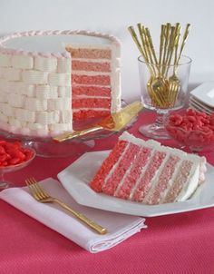 Pink Ombre Cakes