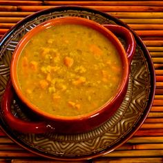 Kalyn's Kitchen®: Crockpot (or Stovetop) Recipe for Red Lentil and Sweet Potato Soup with Curry and Coconut Milk