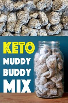 This recipe for Keto Muddy Buddy Mix is truly a treat. It's a retro low carb dessert or snack with just net carbs per serving. This recipe for Keto Muddy Buddy Mix is truly a treat. It's a retro low carb dessert or snack with just net carbs per serving. No Carb Recipes, Healthy Low Carb Recipes, Low Carb Desserts, Dessert Recipes, Snack Recipes, Dinner Recipes, Keto Pork Rinds, Pork Rind Recipes, Trail Mix Recipes
