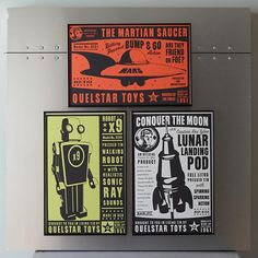 Kids' Posters, Prints & Art: Kids Outer Space Wall Art in Unframed Wall Art | The Land of Nod