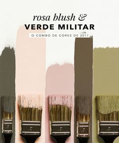 Rosa blush e verde militar são as cores de 2017! Vem ver como usar nos looks e na decoração, tudo no Oh My Closet!