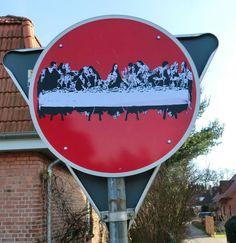 Street Art im Einfamilienhausgebiet von 'GTA Kirchgellersen'