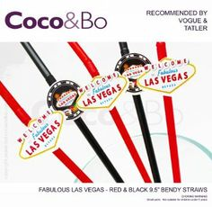 Coco&Bo - Fabulous Las Vegas Party Pack (40 Pcs) - Cocktail Accessories Gift Set - Gift Box Included - Casino Poker Card Night Party Table D...