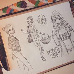 Em destaque, personagens da artista Anna Cattish | THECAB - The Concept Art Blog