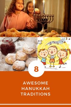 8 AWESOME TRADITIONS TO CELEBRATE HANUKKAH  Need a refresher on Hanukkah traditions and where to find the best supplies to get you started celebrating Hanukkah at a party, share with your children or even if you are curious about the holiday and it's traditions.  PDF Guide is interactive with links to videos learning the 3 blessings with transliterated words, recipes, songs and more...  Head on over to our 20 page beautifully colored easy to read, with interactive links to blessings… Jewish Festival Of Lights, Jewish Festivals, Festival Lights, Hanukkah Traditions, Songs To Sing, Blessings, Pdf, Traditional, Learning