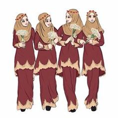 It's wedding sessions in Malaysia 😊 . Looking for bridesmaids outfit do visit 😍 You'll fall in love ❤️ . Dress Design Sketches, Fashion Design Sketches, Friend Cartoon, Girl Cartoon, Best Friend Drawings, Islamic Cartoon, Fashion Illustration Dresses, Anime Muslim, Hijab Cartoon