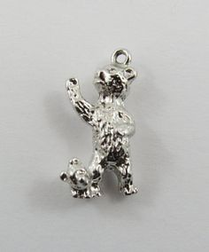 Bear & Cub Sterling Silver Vintage Charm For by SilverHillz