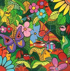 OBRAS : Claudio Baldrich Artista Plastico Drawings, Creative, Artwork, Crafts, Painting, Murals, Animals, Ideas, Pop