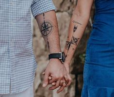65 Trendy Tattoo For Guys Compass Ink Trendy Tattoos, Sexy Tattoos, Unique Tattoos, Body Art Tattoos, Tattoos For Guys, Tattos, Couple Tattoos Unique Meaningful, Couple Tattoos Love, Fairy Tattoo Designs