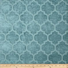Tempo+Pastis+Quatrefoil+Chenille+Teal from @fabricdotcom  Refresh+and+modernize+an+old+piece+of+furniture+and+update+it+with+a+new+look.+This+medium/heavyweight+chenille+jacquard+fabric+is+appropriate+for+accent+pillows,+heavier+window+treatments,+upholstering+furniture,+headboards+and+ottomans.