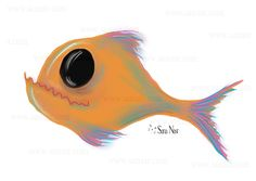 drawing fish piranha, dessin poisson piranha Fish Drawings, I Tattoo, Minis, Animation, Graphics, Pets, Animals, Drawings, Animales