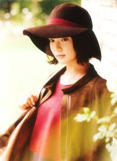 Mikako Tabe , Tabe Mikako(多部美華子) Orange Hats, Oriental, Asian Celebrities, Photography Women, Costumes For Women, Girl Crushes, Put On, Asian Woman, Beauty Women