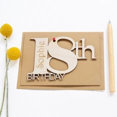 Personalised 18th Birthday Card- 18th Birthday Cards - Keepsake Birthday Card - Wooden Card - Engraved Birthday Card - Handcrafted Card