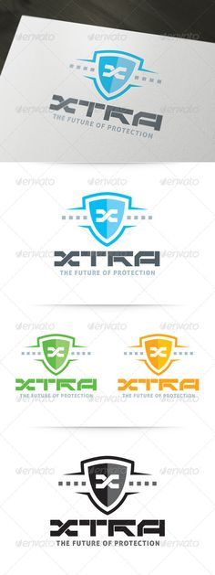 XTRA - Future Protection Logo  #GraphicRiver        About The XTRA Logo Template:  XTRA