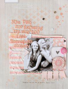 #papercraft #scrapbook #layout  April Mood Board - Jot Magazine. By Kim Archer