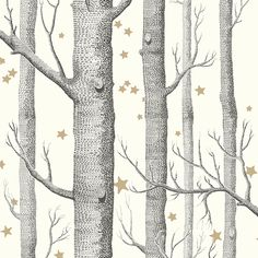 Cole & Son Whimsical_Woods & Stars 103-11050 Cole & Son behang wallpaper behangpapier behang woonkamer behang slaapkamer behang kinderkamer interieur design
