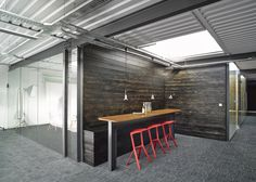 @PLANK Miura stools | Liverpool warehouse converted into offices by Snook Architects