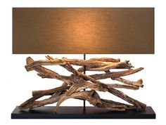 Understated luxury exudes from the subtle rustic design of the Fusion Driftwood table lamp, a wonderful piece crafted with care from reclaimed timbers. Driftwood Coffee Table, Driftwood Lamp, Driftwood Crafts, Bedroom Lighting, Home Lighting, Light Bedroom, Modern Sculpture, Bronze Sculpture, Light Table