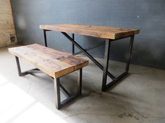 Reclaimed Industrial Chic X Style 6-8 Seater Solid von RccFurniture
