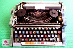 washi tape typewriter