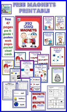 free K-1 Magnets Printable, 47 page, teacher pages, student pages