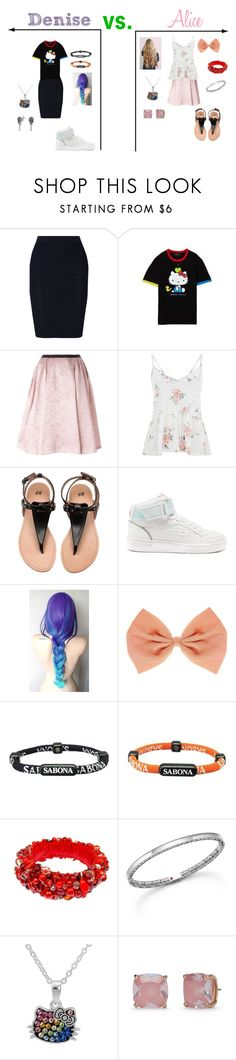 """""""Girly Girl vs Tomboy"""" by sierra-ivy on Polyvore featuring Jonathan Simkhai, Hello Kitty, Antonio Marras, Superdry, Sabona, Roberto Coin, Kate Spade and Bling Jewelry"""