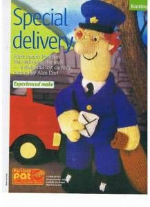Postman pat knitting pattern pdf instant download postman pat alan dart postman pat toy knitting pattern ebay dt1010fo