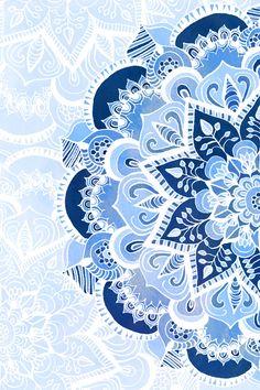 Lacy Blues Art Print