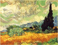 Campo di grano con cipresso - 1889 - Van Gogh - Opere d'Arte su Tela - Listino prodotti - Digitalpix Canvas - Art - Artist - Painting