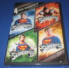 4 Film Favorite - Superman 1 2 3 4 The Movie (DVD, 2008, 2-Disc Set) BRAND NEW! #superman1,2,3,4 #superman #action&adventure #christopherreeve #moviedvd #Movies http://www.ebay.com/usr/vinylrockretro