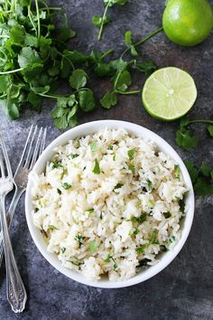 Instant Pot Cilantro Lime Rice Recipe If you like Chipotle's rice, you will LOVE this easy recipe you can make at home. It is a great side dish for any Mexican meal.