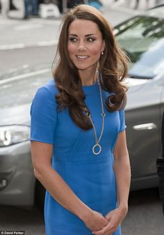 The Duchess of Cambridge arrived at the National Portrait Gallery for an unveiling of the Queens portrait today