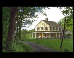 My Dream house! I love the wrap around porch and the yellow and white.and the land! Connor Homes - The Emmaline Gabrielle Farmhouse Connor Homes, This Old House, New England Style, Old Houses, Farm Houses, Dream Houses, The Ranch, Home Interior, Interior Modern