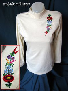 Hungarian Embroidery, Hand Embroidery, Jumper, Blouse, Long Sleeve, Sleeves, Tops, Women, Fashion
