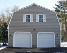 2 car garage with second story