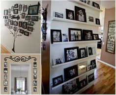 Family Art Ideas and wall gallery ideas you can use in your home!