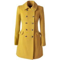Tori Coat in Mustard