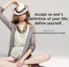 Define yourself...