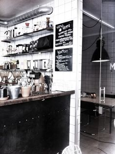 Irma works in a cafe and I imagine it to look something like this.