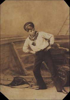 """Photo identified as Edward Walsh as Bill Bobstay in """"The Children's Pinafore"""" at the Opera Comique, circa 1878."""