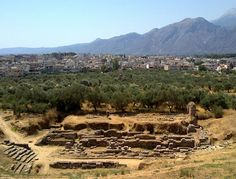This WAS Sparta. Modern Sparta in the background. Ancient Sparta in the foreground.