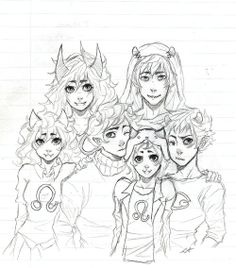 Oh my gosh. The sufferer and disciple if they had Kankri and Karkat and meulin and Nepeta as kids. OH. MY. FEELS.
