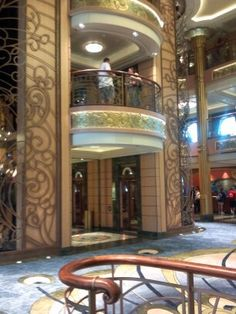 Lobby of the new Disney Fantasy cruise ship.