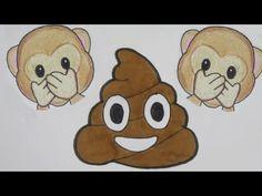 Aap & poep emoji ~ Leren tekenen in stappen! - YouTube